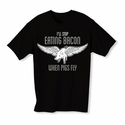 When Pigs Fly Youth T-shirt - Black - Blue or Pink