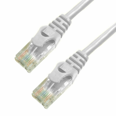 100Ft Cat6 Ferrari Boot Ethernet Cable - White, 10-Pack
