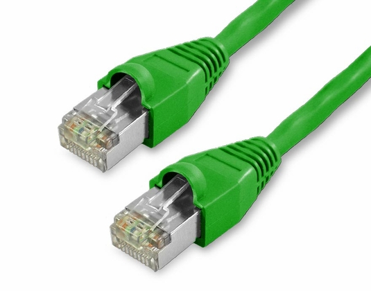 100Ft Cat6 Snagless Shielded (STP) Ethernet Cable - Green, 10-Pack