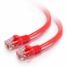 10Ft Cat5e Crossover Snagless Ethernet Cable - Red, 10-Pack