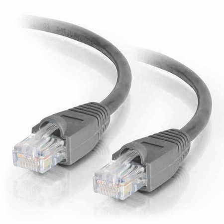 10Ft Cat5e Snagless Unshielded (UTP) Ethernet Cable - Gray, 10-Pack