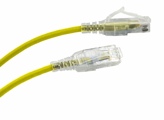 10Ft Cat6 Slim Jacket Unshielded (UTP) Ethernet Cable - Yellow - 10 Pack