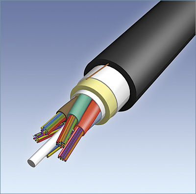 12-Strand AFL All-dielectric Self Supporting Mini-Span® 424 Giga-Link-300 MM Fiber 62.5/125