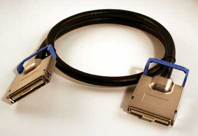 12X-12X Infiniband DDR Cable, 3 Meter, Ejectors