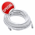150 Foot, Custom CAT5E Network Cable w/ Boot, RJ45 to RJ45 - White