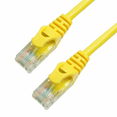 15Ft Cat6 Ferrari Boot Ethernet Cable - Yellow, 10-Pack