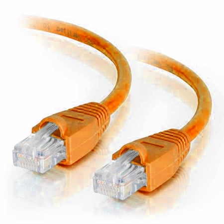 15Ft Cat6A Snagless Unshielded (UTP) Ethernet Cable - Orange, 10 Pack