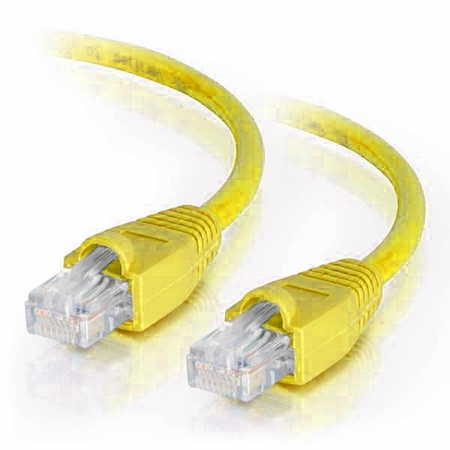 15Ft Cat6A Snagless Unshielded (UTP) Ethernet Cable - Yellow, 10 Pack