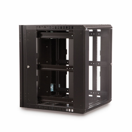15U LINIER Swing-Out Wall Mount Cabinet