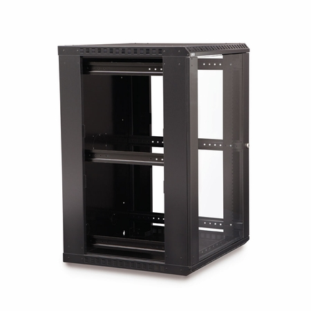 18U LINIER Fixed Wall Mount Cabinet