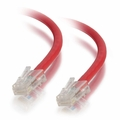 1Ft Cat5e Crossover Non-Booted Ethernet Cable - Red, 10-Pack
