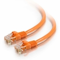 1Ft Cat5e Crossover Snagless Ethernet Cable - Orange, 10-Pack