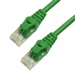 1Ft Cat5e Ferrari Boot Ethernet Cable - Green, 10-Pack