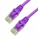 1Ft Cat5e Ferrari Boot Ethernet Cable - Purple, 10-Pack