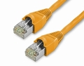 1Ft Cat5e Snagless Shielded Ethernet Cable - Orange, 10-Pack