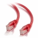 1Ft Cat5e Universal Boot Ethernet Cable - Red, 10-Pack