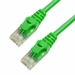 1Ft Cat6 Ferrari Boot Ethernet Cable - Green, 10-Pack