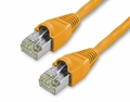 1Ft Cat6 Snagless Shielded (STP) Ethernet Cable - Orange, 10-Pack