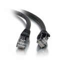 1Ft Cat6 Universal Boot Ethernet Cable - Black, 10-Pack