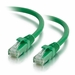 1Ft Cat6 Universal Boot Ethernet Cable - Green, 10-Pack