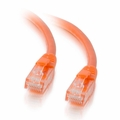 1Ft Cat6 Universal Boot Ethernet Cable - Orange, 10-Pack