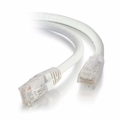 1Ft Cat6 Universal Boot Ethernet Cable - White, 10-Pack