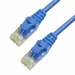 1Ft Cat6A Ferrari Boot Unshielded (UTP) Ethernet Cable - Blue, 10 Pack