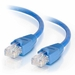 1Ft Cat6A Snagless Unshielded (UTP) Ethernet Cable - Blue, 10 Pack