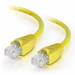 1Ft Cat6A Snagless Unshielded (UTP) Ethernet Cable - Yellow, 10 Pack