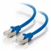1Ft Cat6A Universal Boot Shielded (STP) Ethernet Cable - Blue, 10 Pack