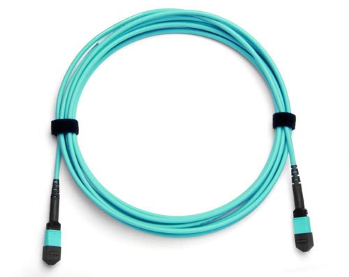 20-Fiber MTP/MPO CFP-CFP Fiber Optic Cable, Multimode OM3, Plenum