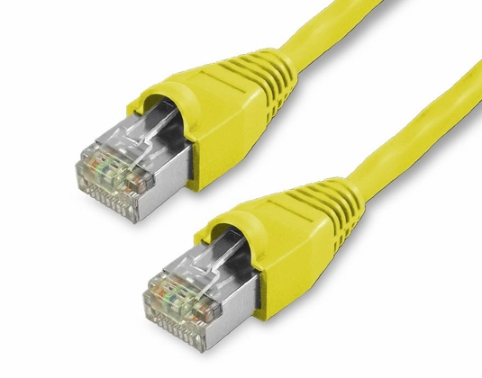 20Ft Cat5e Snagless Shielded Ethernet Cable - Yellow, 10-Pack