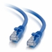 25Ft Cat5e Universal Boot Ethernet Cable - Blue, 10-Pack