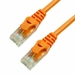 25Ft Cat6 Ferrari Boot Ethernet Cable - Orange, 10-Pack