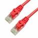 25Ft Cat6 Ferrari Boot Ethernet Cable - Red, 10-Pack
