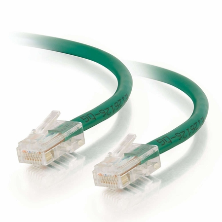 25Ft Cat6 Non-Booted Ethernet Cable - Green, 10-Pack