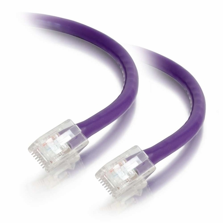 25Ft Cat6 Non-Booted Ethernet Cable - Purple, 10-Pack