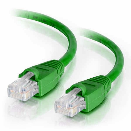 25Ft Cat6 Snagless Ethernet Cable - Green, 10-Pack