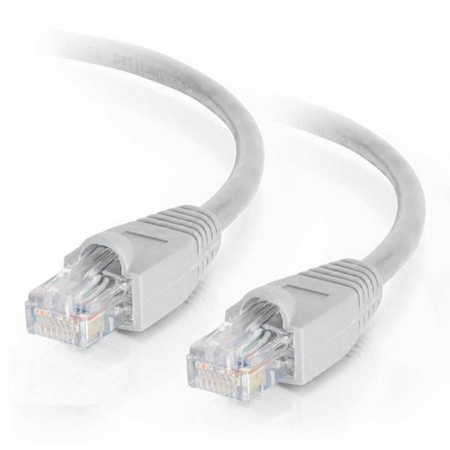 25Ft Cat6 Snagless Ethernet Cable - White, 10-Pack