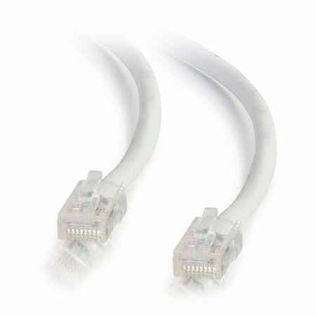 2Ft Cat5e Non-Booted Ethernet Cable - White, 10-Pack