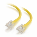 2Ft Cat5e Non-Booted Ethernet Cable - Yellow, 10-Pack