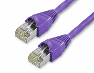 2Ft Cat5e Snagless Shielded Ethernet Cable - Purple, 10-Pack