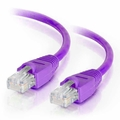 2Ft Cat5e Snagless Unshielded (UTP) Ethernet Cable - Purple, 10-Pack