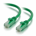 2Ft Cat6 Universal Boot Ethernet Cable - Green, 10-Pack