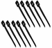 3/4 x 6 Hook/Loop Cable Tie - Black (10 pack)