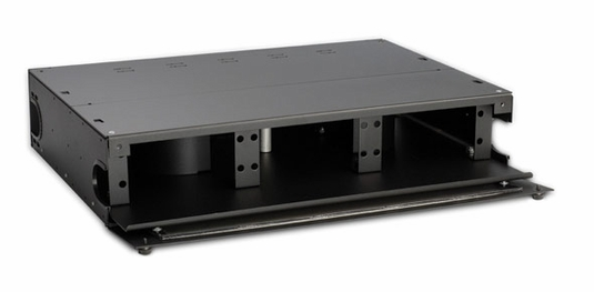 Rack Mount Fiber Enclosure-Unloaded, for Fiber Counts 36/48, 2U
