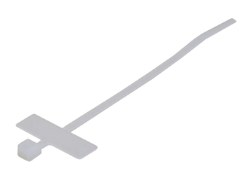 4 Nylon Marker Cable Tie - 18LB White (100 Pack)