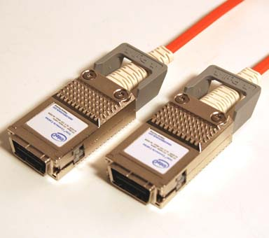 4X-4X, 300 Meter, CX4/Infiniband DDR Optical Cable, w/ Ejectors