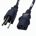 5-15P to C13 Power Cable - 1ft Black 10Amp Power Cord