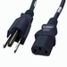 5-15P to C13 Power Cable - 8ft Black 10Amp Power Cord